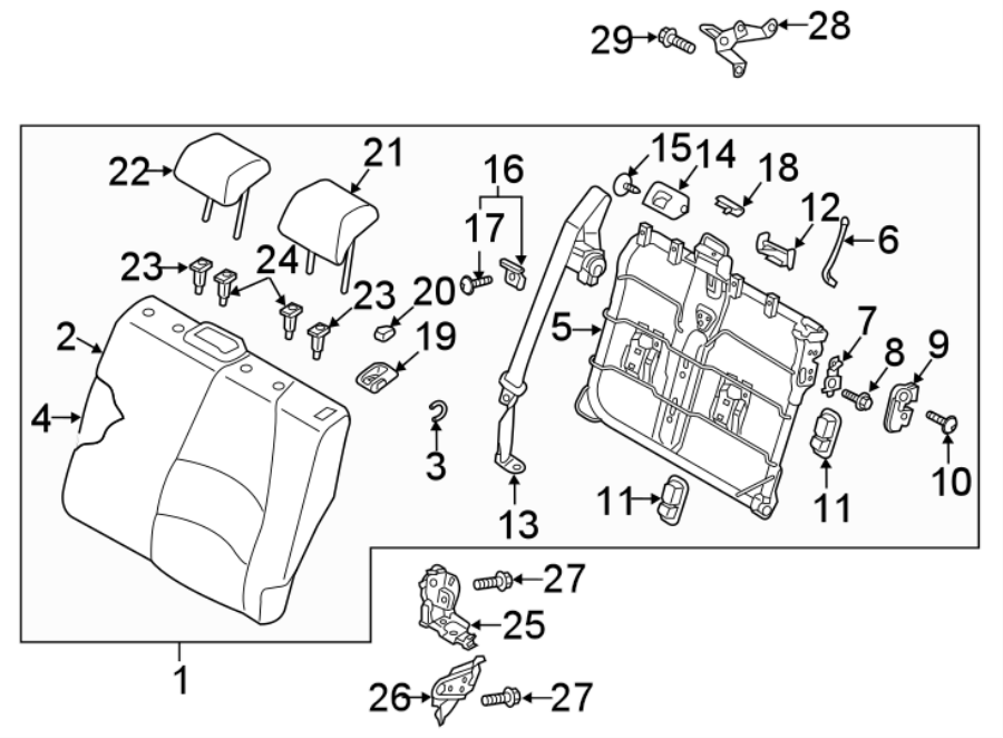 Mazda Cx-3 Knob Left  L   Rear  Rr  Seat Back  Included With  Seat Back Assembly