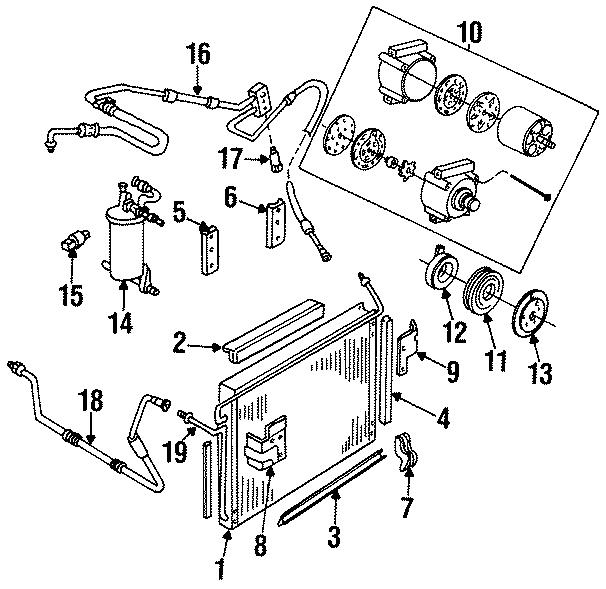 Mazda B4000 A  C Refrigerant Liquid Hose