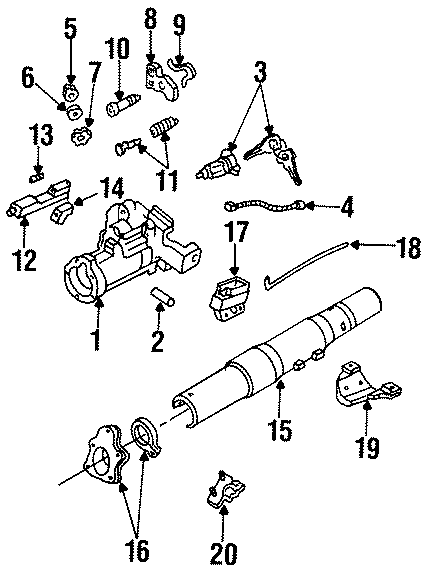 mazda b3000 cylinder and keys retainer  wire retainer