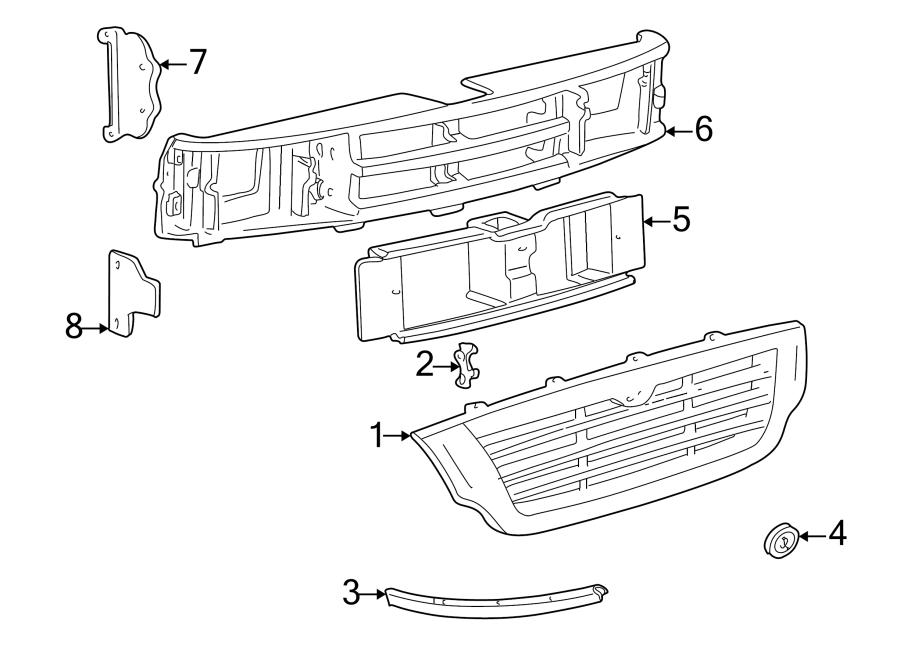 Mazda B2500 Radiator Support Panel  1998