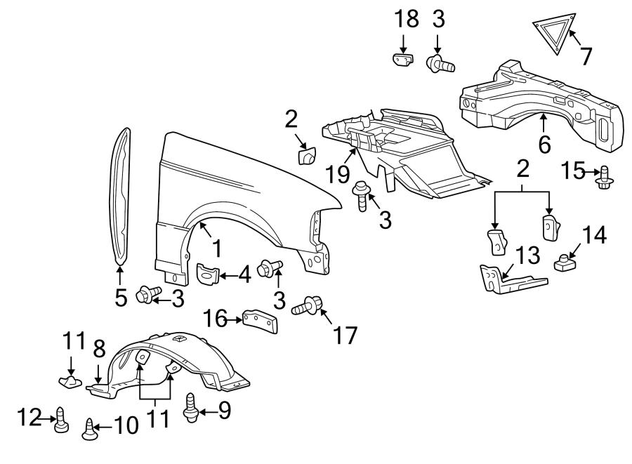 Mazda B4000 Sound Absorber  Rear Sound  Components  Fender