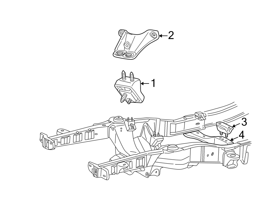 Mazda B2500 Engine Mount  Left  Bushing  Bearings