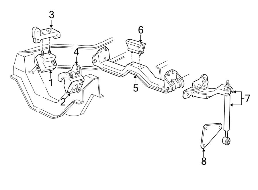 Mazda B4000 Transmission  Mount   Rear   Crossmember Insulator  Rubber  Mt