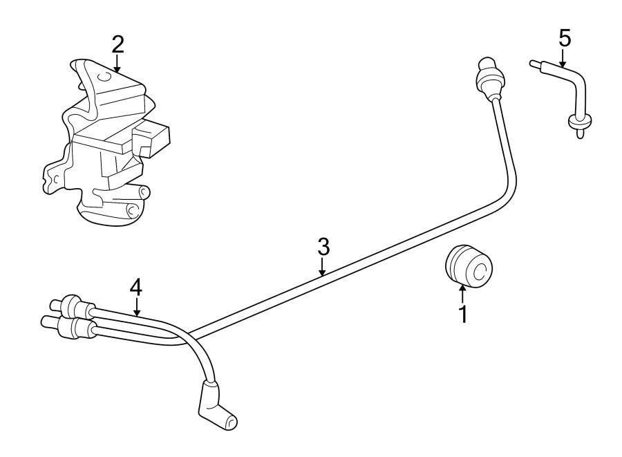 Mazda B2500 Vacuum Hose  4wd  W  O Abs