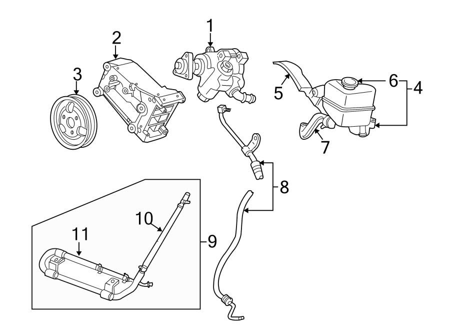 Mazda B4000 Power Steering Pump Pulley  Power Steering