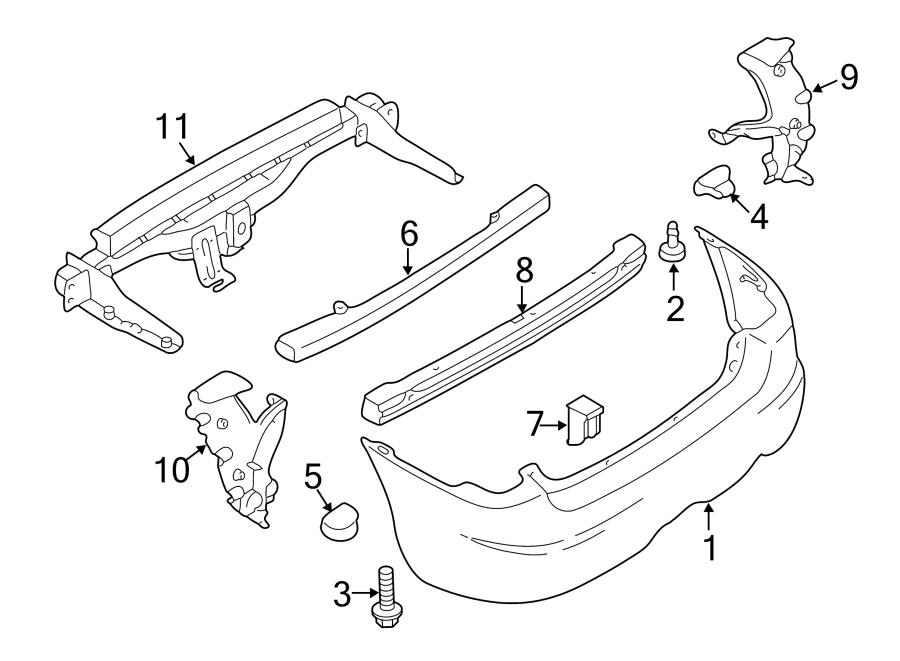 Mazda Tribute Bumper Cover  Bumper  Rear  Gray  Components  Body