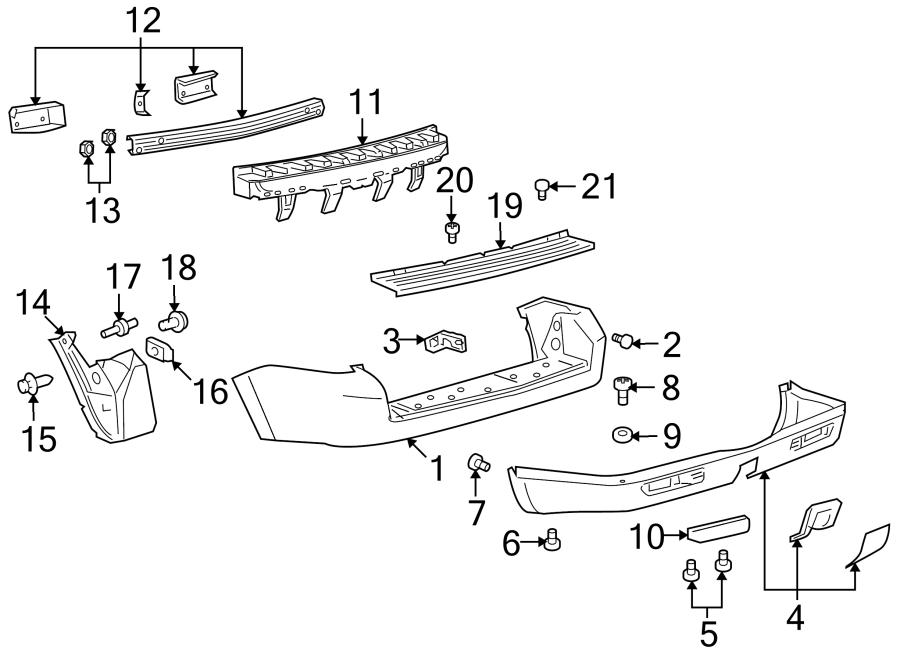Mazda Tribute Bumper Splash Shield  Right  Rear  Components  Body