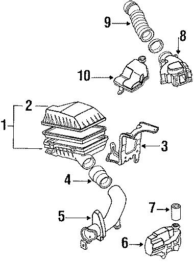 Mazda 626 Engine Air Intake Hose  626  U0026 Mx O Turbo  W