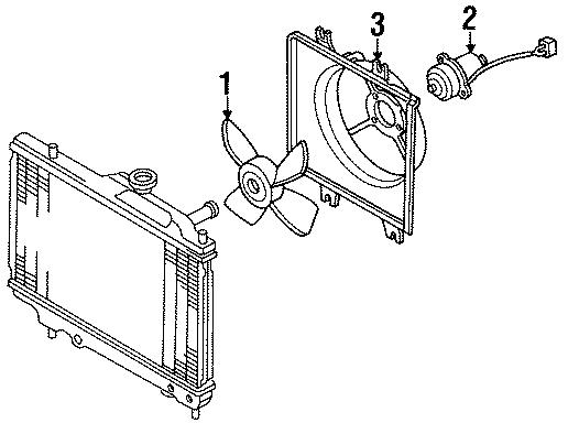 Mazda Protege Engine Cooling Fan Motor  May  Radiator  Trans