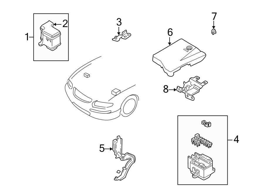 Mazda Millenia Cover Clip  Fuse Box  U0026 Components