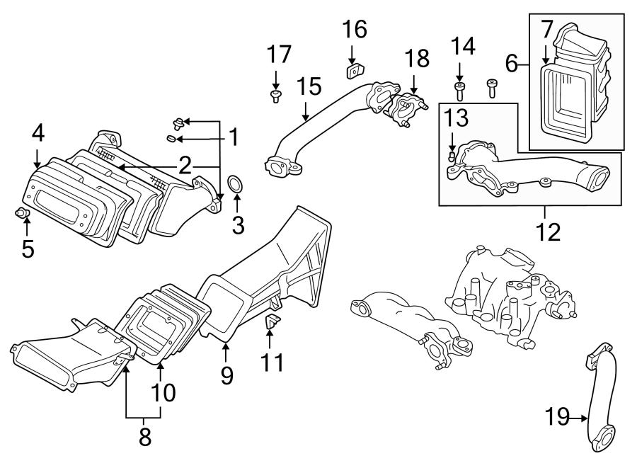 Mazda Millenia Engine Air Intake Hose Bracket  1995-96  1997-02  Duct  Intercooler