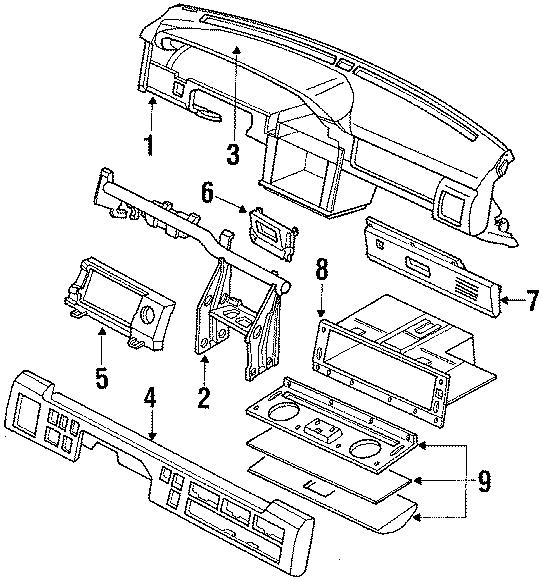 Mazda 929 Glove Box  Tray  Panel  Instrument  Body