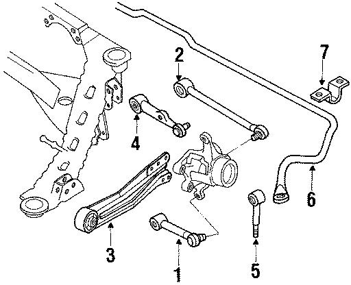 Mazda 929 Plate  Stabilizer Bar Bracket  Suspension  Steering  Rear  Components