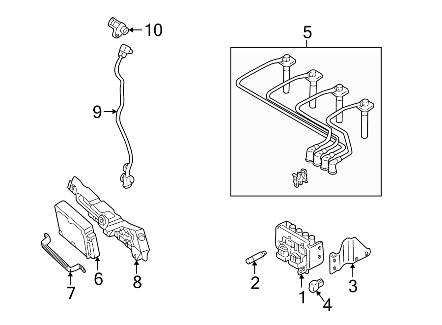 Mazda Protege Engine Control Module  1 8 Liter  Manual