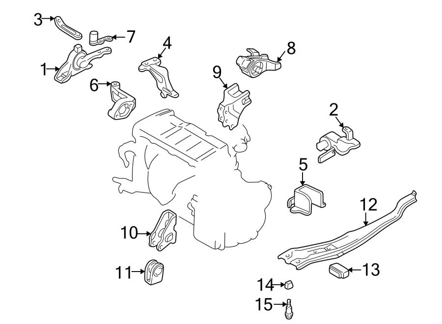 Mazda Protege Automatic Transmission Mount Bracket (Lower ...