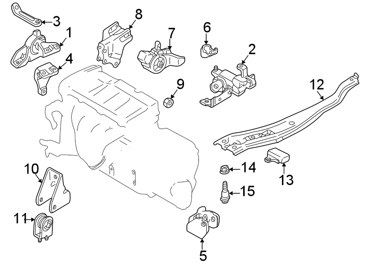 Mazda Protege Engine Mount Bracket  Rear   1 8 Liter  Manual Trans