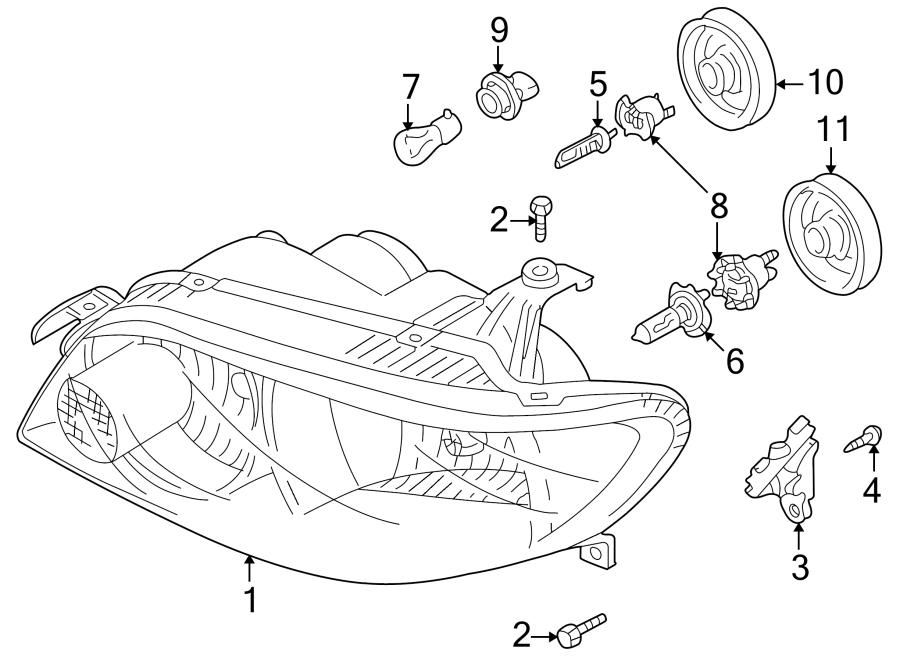 Mazda Protege5 Headlight Bulb Cap  Halogen  Low Beam  Hatchback  W  O Hid  2006 O