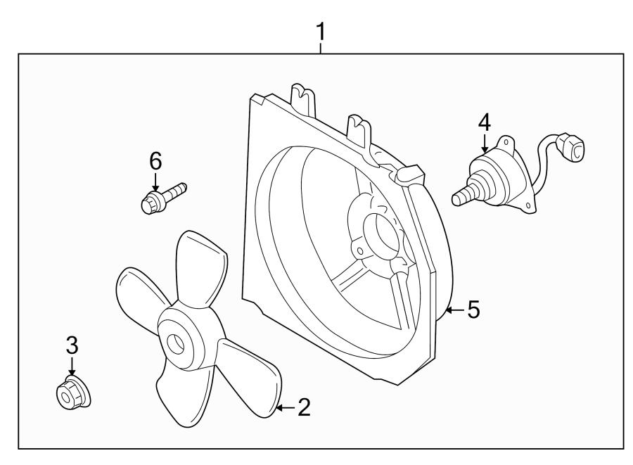 Mazda Protege Engine Cooling Fan Motor