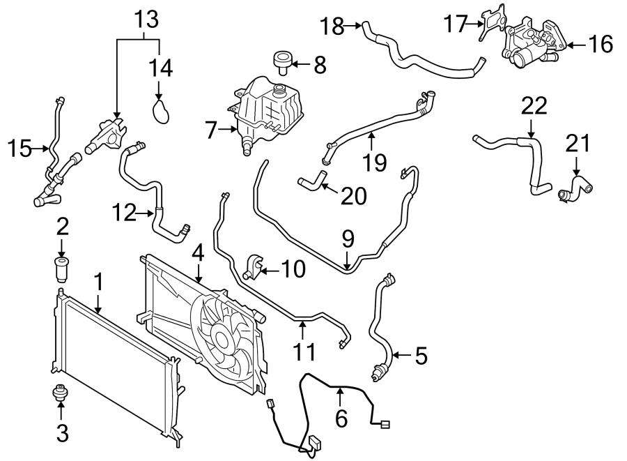 Mazda 3 Coolant  Water  Hose  Engine  Oil Cooler