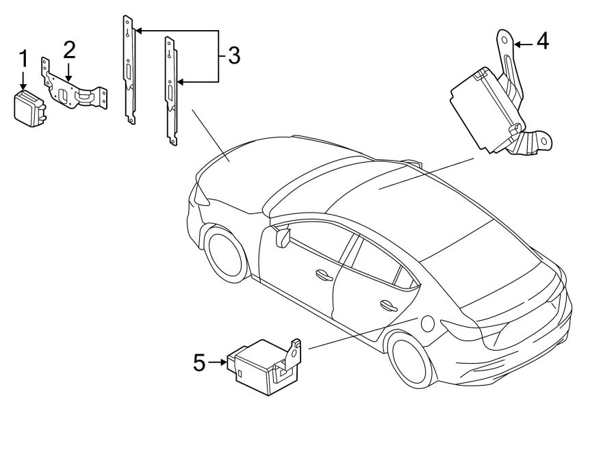 mazda 3 bracket  cruise control distance sensor  radiator