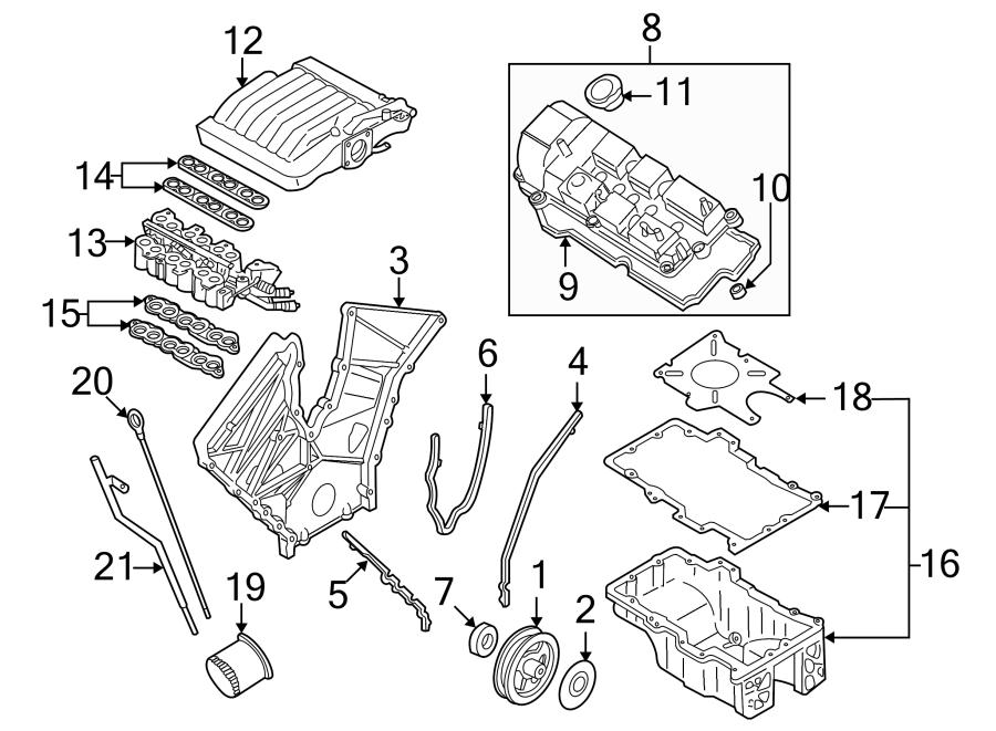 Mazda Mpv Gasket  Manifold  Plenum  Intake  2 5 Liter