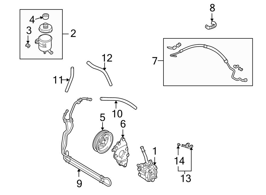 Mazda MPV Power Steering Pump Pulley. 2000-01. 2002-06 ...