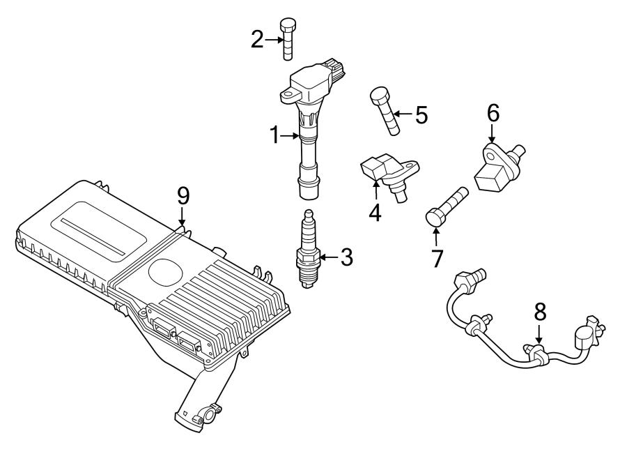 Mazda 2 Bolt  Sensor  Crankshaft  Camshaft  Engine