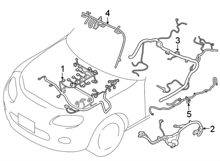 Mazda MX-5 Miata Engine harness. HARNESS, ENGINE. WIRING ...