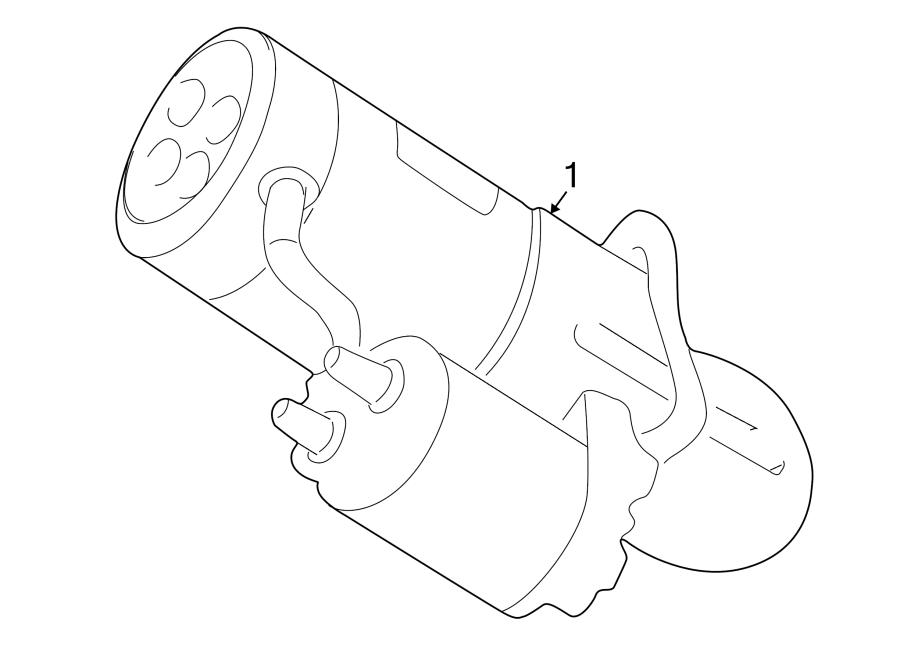 Mazda 626 Starter Motor  Cyl  Manual  Trans