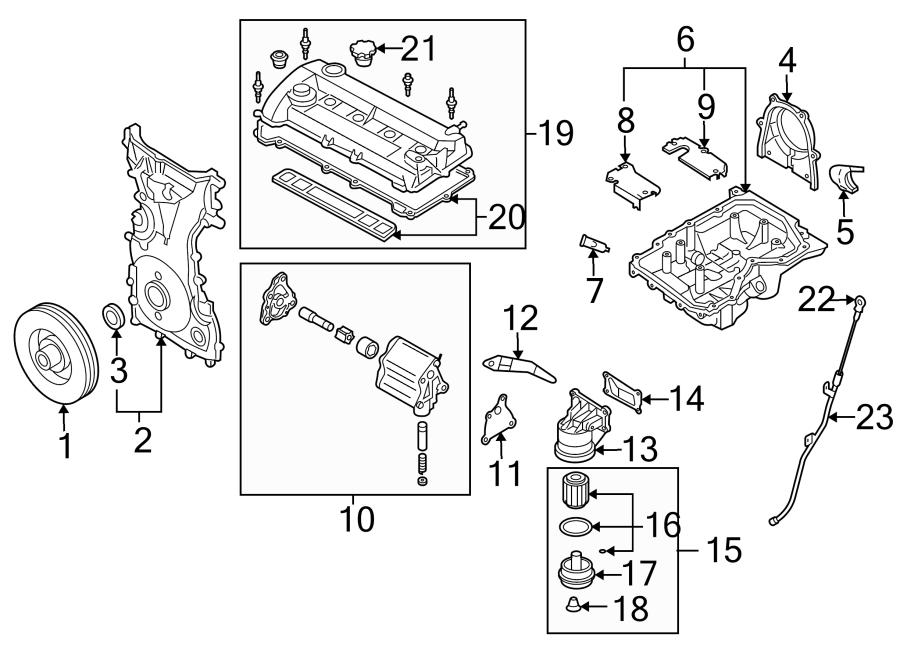 Mazda 6 Engine Timing Cover  Mazda6  W  O Turbocharger  Bearings