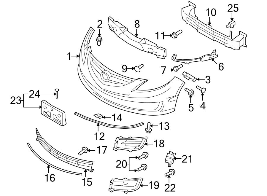 Mazda 6 Screw  Retainer  Bumper  2 5 Liter  3 7 Liter