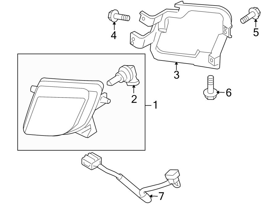 Mazda 6 Fog Light Bracket  2009-10  Lamps