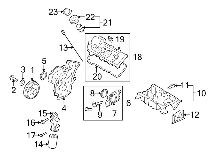 Mazda 6 Engine Crankshaft Seal  3 7 Liter  Cx-9  Cx-9  From 10  7  13  Cx-9  To 10  7