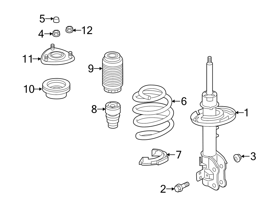 Mazda 6 Suspension Strut  Components  Front  May