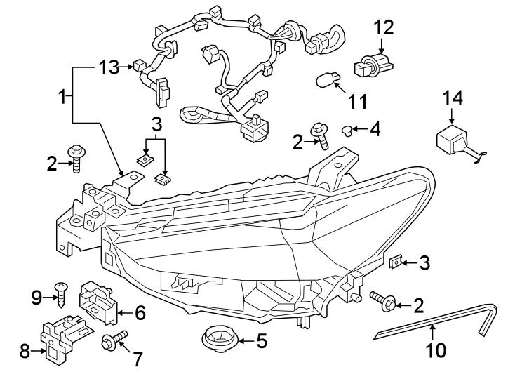 Mazda 6 Headlight Wiring Harness Connector  W  Adaptive