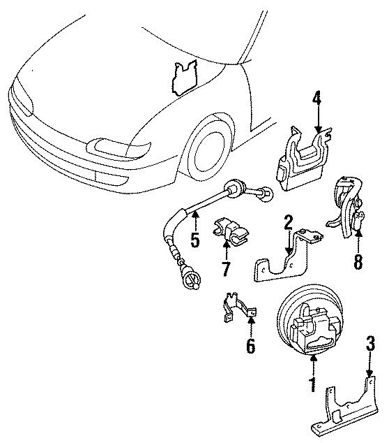mazda 626 cable clip  holder clip  2 0 liter manual trans