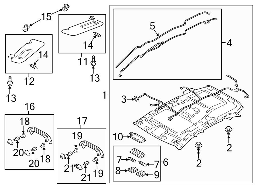 Mazda Cx Sunroof  Wire  Trim