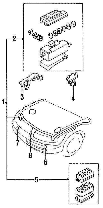 Mazda 929 Front Relay  Relay Box