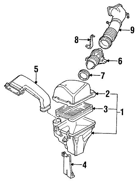 Mazda 929 Air Filter  929  Intake  Engine