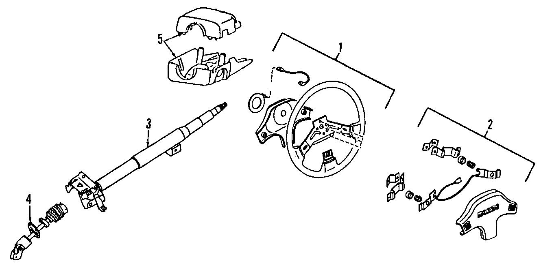 Mazda 626 Steering Column Cover  Upper   626  Mx