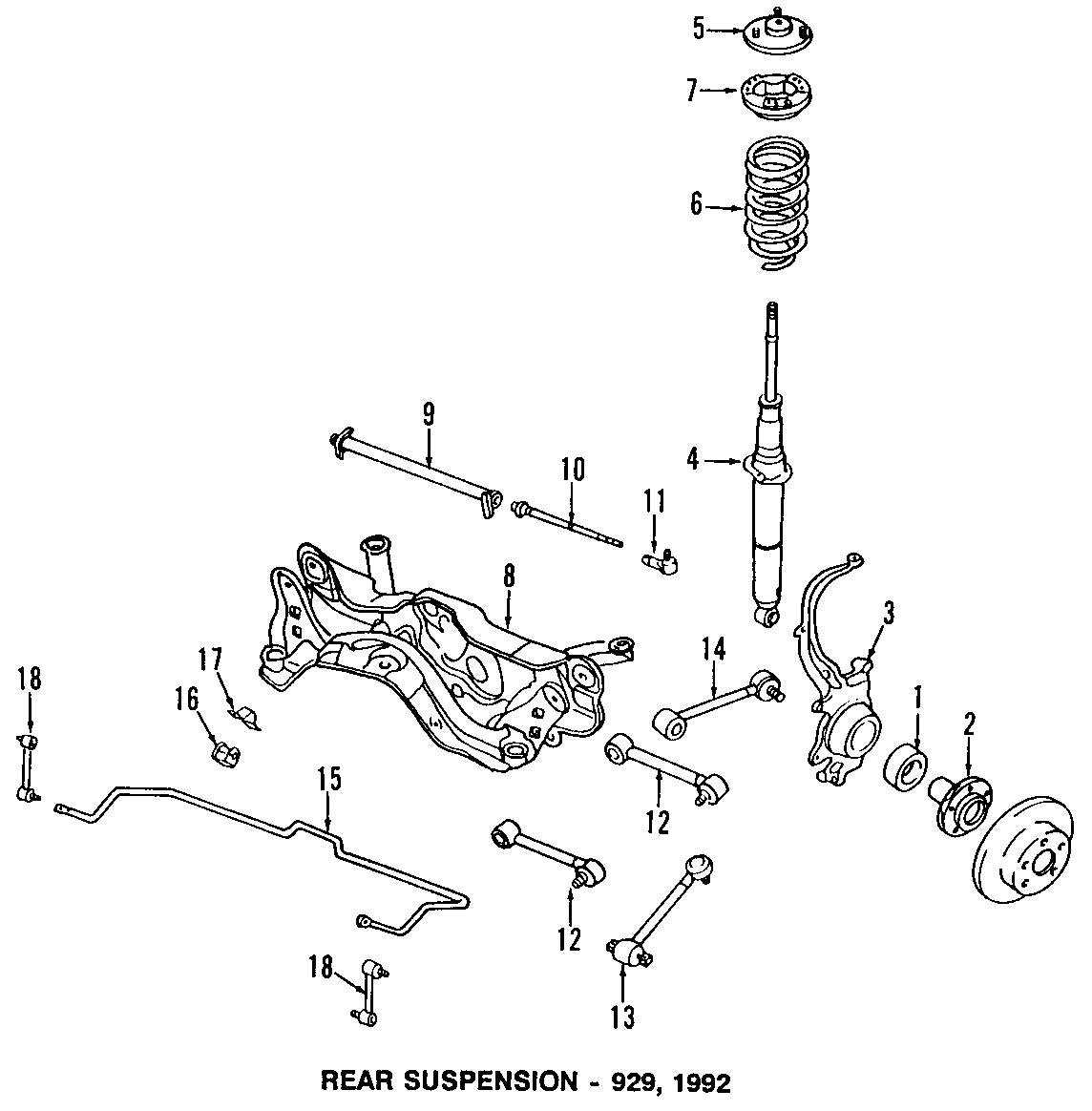 Mazda 929 Suspension Stabilizer Bar Bushing  Components  Clank  Make