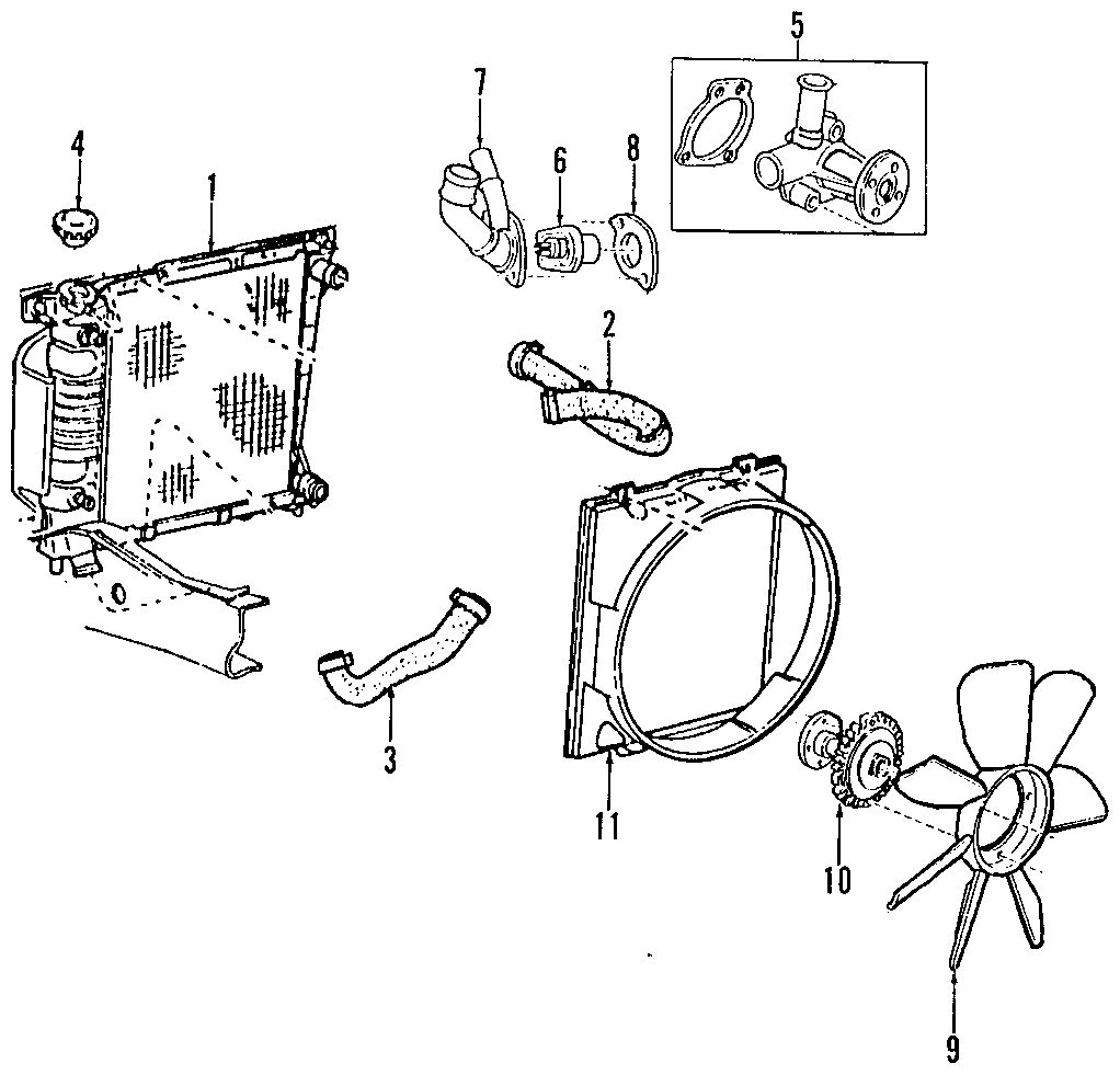 Mazda B4000 Engine Coolant Thermostat  4 0 Liter  2001-09  B4000