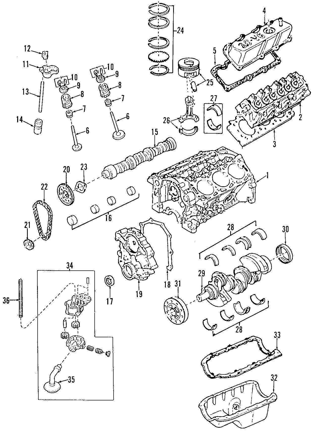 Mazda B3000 Engine Push Rod  B3000  Bearings