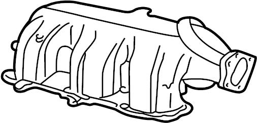 Mazda B4000 Engine Intake Manifold  4 0 Liter  Upper