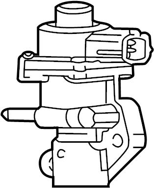 Mazda B2300 Egr valve. Emission, make, repair - 1F2020300 ...