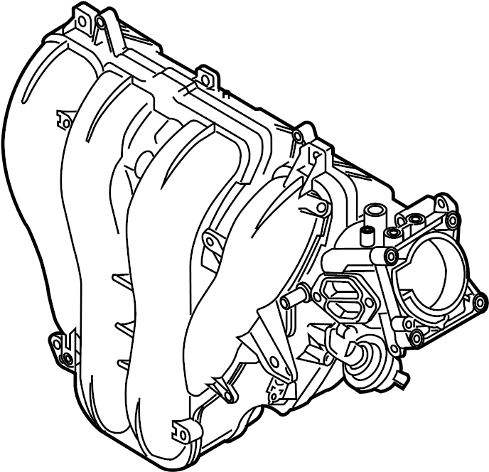 Mazda 3 Engine Intake Manifold  2 0 Liter W  O Skyactiv