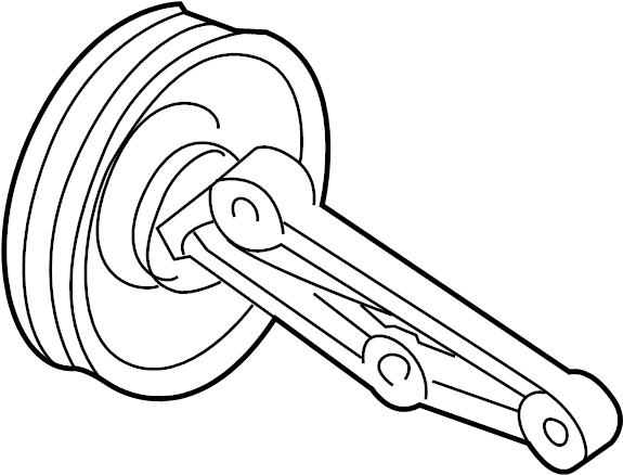 Mazda Mpv Pulley  Idler  Drive  Bracket  Belt