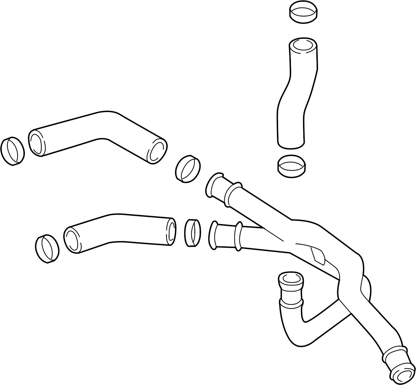 Mazda Mpv Oil  Cooler  Line  Engine  Tube  Assembly   Coolant Hose  2002-06
