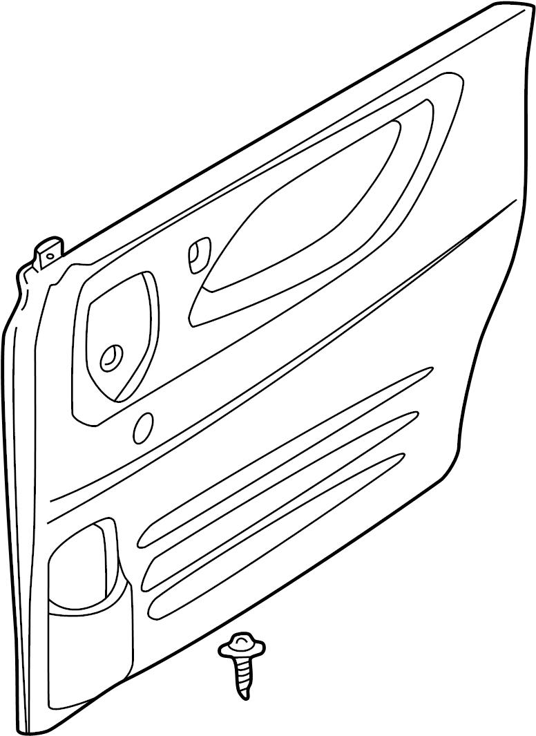 mazda mpv door interior trim panel  cloth w  o power windows w  ashtray  beige